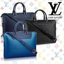 274d4bd776da Louis Vuitton EPI Blended Fabrics A4 2WAY Plain Leather Business    Briefcases