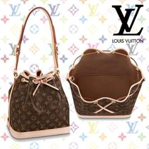 Louis Vuitton NOE Monogram Blended Fabrics Tassel 2WAY Leather Elegant Style