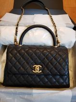CHANEL Casual Style 2WAY Plain Leather Party Style Office Style