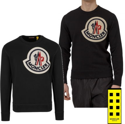MONCLER Sweatshirts U-Neck Long Sleeves Cotton Sweatshirts