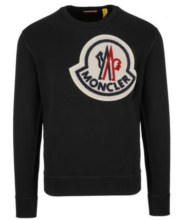 MONCLER Sweatshirts U-Neck Long Sleeves Cotton Sweatshirts 2