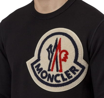 MONCLER Sweatshirts U-Neck Long Sleeves Cotton Sweatshirts 4