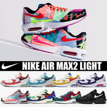 Nike AIR MAX Unisex Faux Fur Blended Fabrics Street Style Plain Sneakers