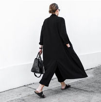 Plain Long Fringes Office Style Oversized Jackets