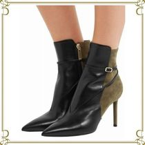 Saint Laurent Plain Pin Heels Elegant Style Ankle & Booties Boots