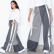adidas Stripes Casual Style Street Style Cotton Long Pants