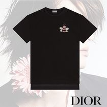 DIOR HOMME Crew Neck Street Style Plain Other Animal Patterns Cotton babf1c58d3d