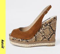 River Island Casual Style Suede Python Wedge Pumps & Mules