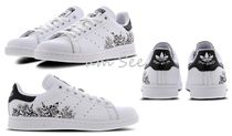 adidas STAN SMITH Flower Patterns Round Toe Rubber Sole Casual Style Unisex