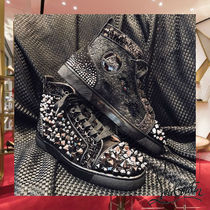 Christian Louboutin Flower Patterns Studded Street Style Sneakers