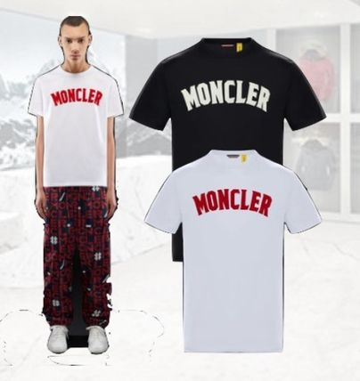 MONCLER More T-Shirts Street Style Collaboration Plain Short Sleeves T-Shirts