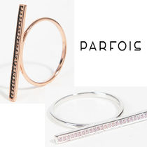 PARFOIS Costume Jewelry Casual Style Silver Rings