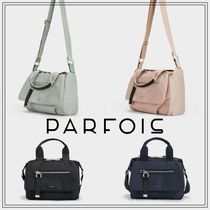PARFOIS Casual Style Nylon Plain Shoulder Bags