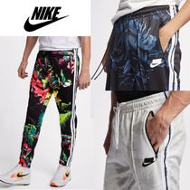 Nike Printed Pants Flower Patterns Street Style Patterned Pants