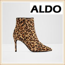 ALDO Leopard Patterns Leather Pin Heels Elegant Style