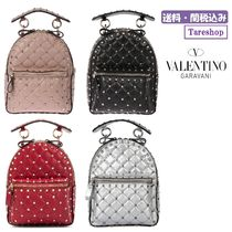 VALENTINO Studded Leather Backpacks