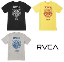 RVCA Crew Neck Pullovers Leopard Patterns Collaboration Cotton
