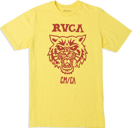 RVCA Crew Neck Crew Neck Pullovers Leopard Patterns Collaboration Cotton 4