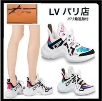 Louis Vuitton Monogram Round Toe Casual Style Blended Fabrics Street Style