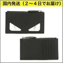 FENDI BAG BUGS Street Style Plain Card Holders