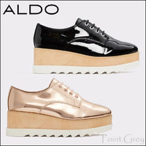 ALDO [ALDO] Metallic Patent Platform Derby Shoes - Vellezzo