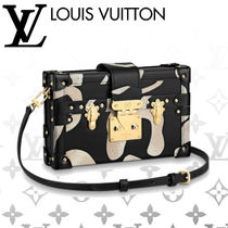 Louis Vuitton PETITE MALLE Casual Style Calfskin 2WAY Other Animal Patterns