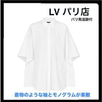 Louis Vuitton MONOGRAM Short Monogram Cotton Short Sleeves Elegant Style Cropped