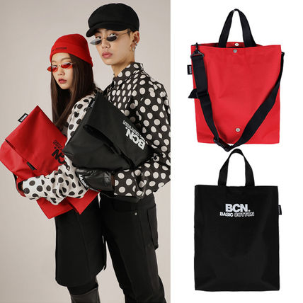 Casual Style Unisex Street Style 3WAY Plain Totes