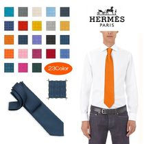 HERMES Monogram Silk Ties
