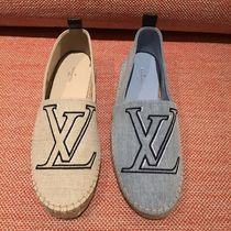 Louis Vuitton Plain Toe Blended Fabrics Bi-color Plain Elegant Style Flats