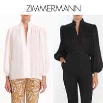 Zimmermann Dots Puffed Sleeves Medium Elegant Style Shirts & Blouses