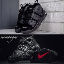 Nike AIR MORE UPTEMPO Blended Fabrics Street Style Collaboration Sneakers