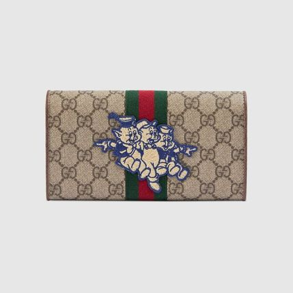 the best attitude d3260 e3ad6 GUCCI Ophidia 2019 SS Monogram Canvas Long Wallets (557803 9U8KT 8748)
