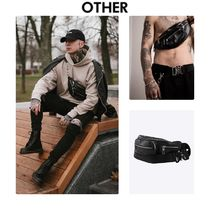 Other UK Casual Style Unisex Street Style Chain Plain Shoulder Bags