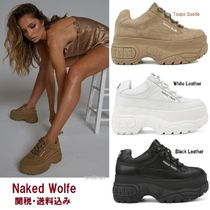 Naked Wolfe Platform Round Toe Lace-up Casual Style Suede Street Style