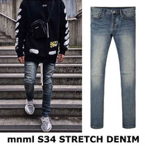 MNML Tapered Pants Unisex Street Style Plain Cotton Jeans & Denim