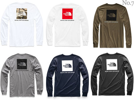 THE NORTH FACE Long Sleeve Crew Neck Street Style Long Sleeves Plain Cotton 2