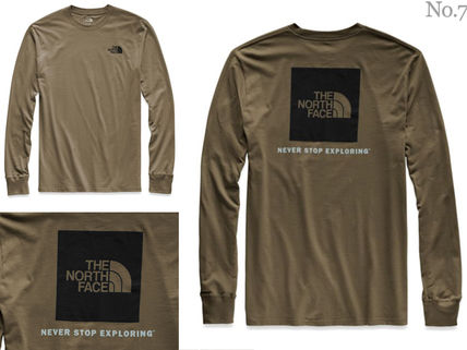 THE NORTH FACE Long Sleeve Crew Neck Street Style Long Sleeves Plain Cotton 5