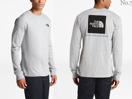 THE NORTH FACE Long Sleeve Crew Neck Street Style Long Sleeves Plain Cotton 7