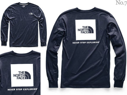 THE NORTH FACE Long Sleeve Crew Neck Street Style Long Sleeves Plain Cotton 8