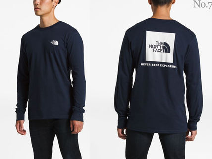 THE NORTH FACE Long Sleeve Crew Neck Street Style Long Sleeves Plain Cotton 9