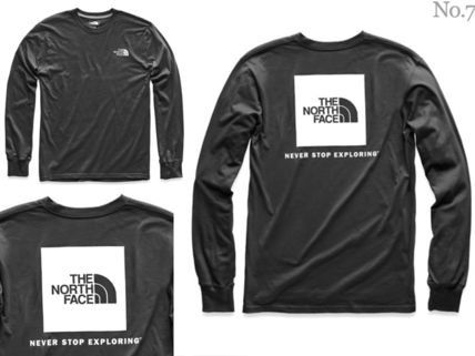 THE NORTH FACE Long Sleeve Crew Neck Street Style Long Sleeves Plain Cotton 10
