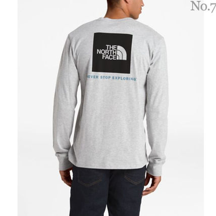 THE NORTH FACE Long Sleeve Crew Neck Street Style Long Sleeves Plain Cotton 12