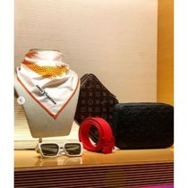 Louis Vuitton MONOGRAM Unisex Street Style Bi-color Cotton Accessories