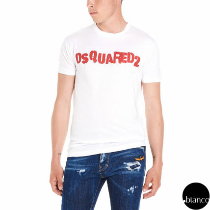 D SQUARED2 Crew Neck Crew Neck Street Style Cotton Short Sleeves 5
