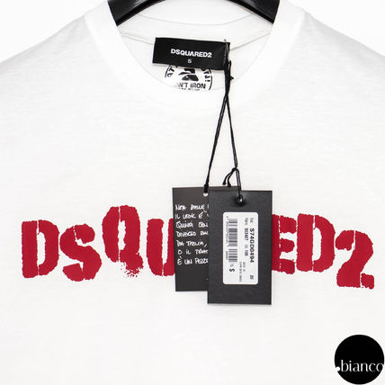 D SQUARED2 Crew Neck Crew Neck Street Style Cotton Short Sleeves 4