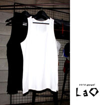 Unisex Street Style Plain Cotton Oversized Tanks