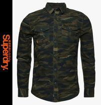 Superdry Camouflage Long Sleeves Shirts
