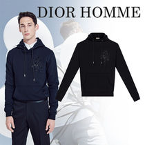 DIOR HOMME Flower Patterns Long Sleeves Cotton Hoodies 32b26d01653