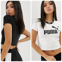 PUMA Crew Neck Short Street Style Plain Cotton Short Sleeves